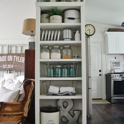 DIY Kitchen BookShelf