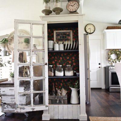 DIY Window Floor Cabinet
