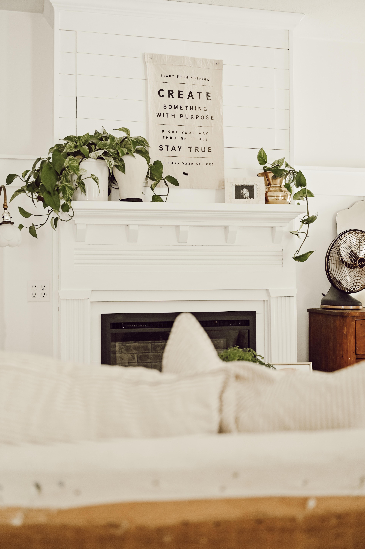 Diy Fireplace Mantel The White Cottage Farm