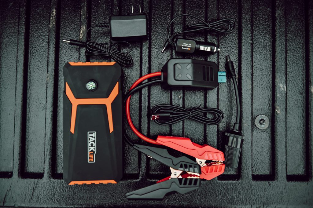 Tacklife Jump Starter Flat Lay