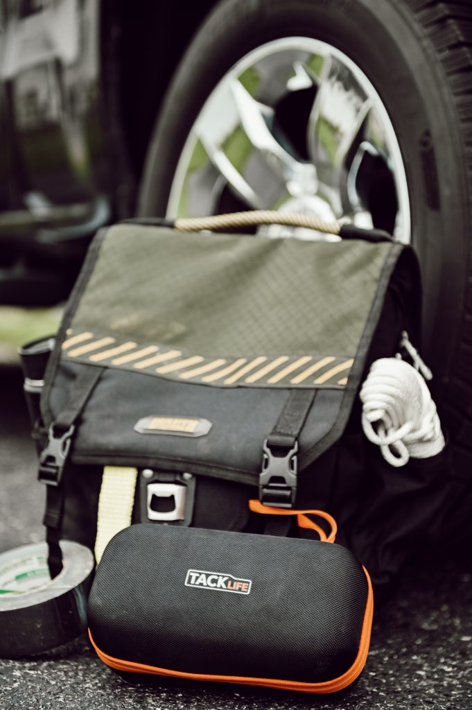 Truck Bag with Tacklife Jump Starter